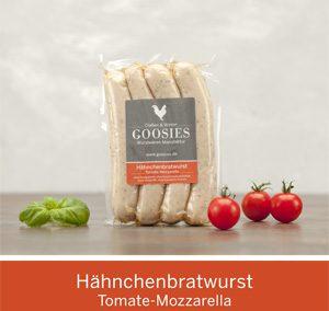 Hähnchenbratwurst Tomate-Mozzarella